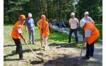 """In Blagowschtschina begann man mit dem Bau des nächsten Abschnittes der Gedenkstätte """"Trostenez""""."""