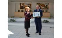 ММОЦ имени Й. Рау и Историческая мастерская получили сертификаты Минского горисполкома