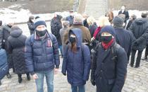 """Memorial Aktion in Erinnerung an die """"Purim"""" Pogrom in der Minsker Ghetto"""